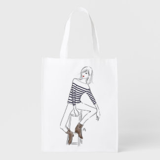 """Marinière"" Grocery Bag"