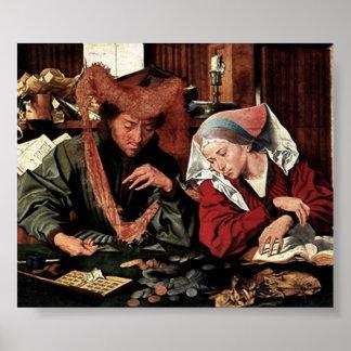 Marinus van Reymerswaele - Money changer Poster