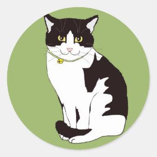 Mario da Cat Classic Round Sticker