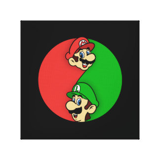 Mario Luigi Yin Yang Canvas Print