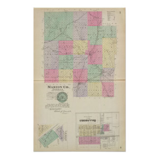 Marion County, Hillsboro, Lehigh, Kansas Poster