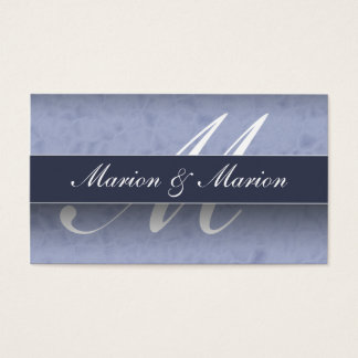 Marion & Marion Blue Business Card