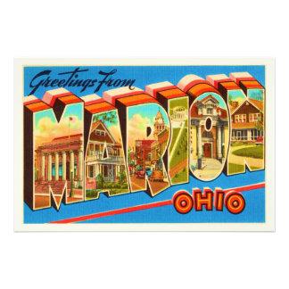 Marion Ohio OH Old Vintage Travel Souvenir Photographic Print