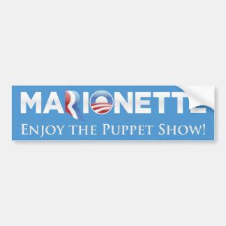 Marionette 2012 Parody Bumper Sticker