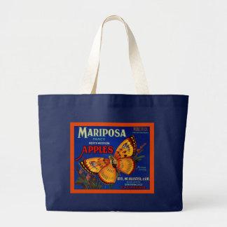 Mariposa Apples Large Tote Bag