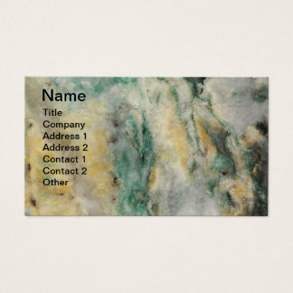 Mariposite Mineral Pattern Business Card