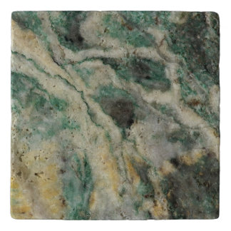 Mariposite Mineral Pattern Stone Trivet