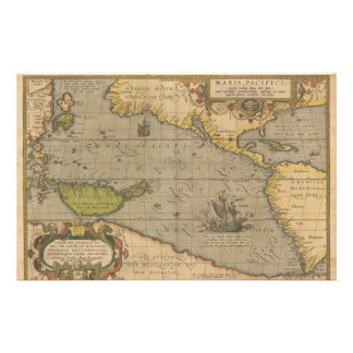 Maris Pacifici by Abraham Ortelius 1589 Customized Stationery