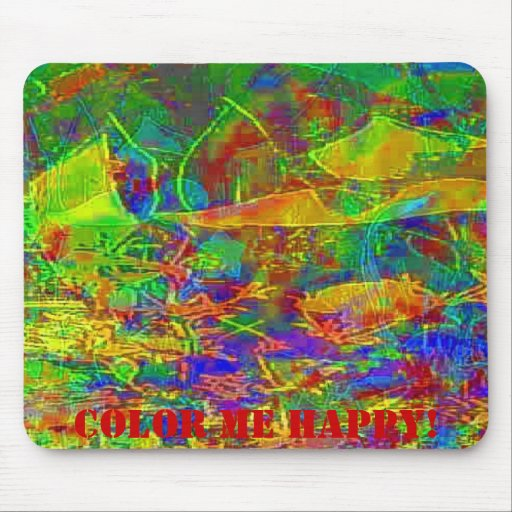 Marisa's Can of Colors Splash Cannas and Petunias Mouse Pads