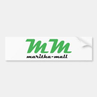 Maritha-Mall Logo Bumper Sticker