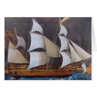 Maritime Bottle Art Card