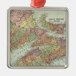Maritime Provinces of Canada Metal Ornament