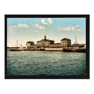 Maritime railway station, Calais, France vintage P Postcard