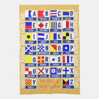 Maritime Signal Code Flags Tea Towel