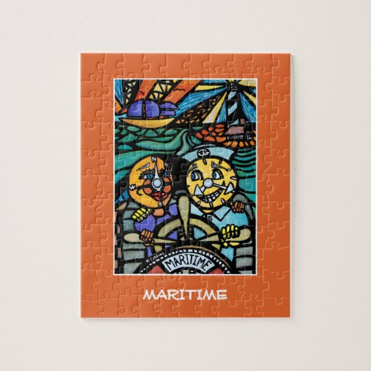 Maritime - Time PIeces Bright Colours Jigsaw Puzzle