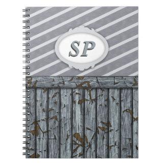 Maritime Wall - Grey Spiral Note Book