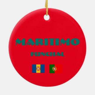 Maritimo Madeira Soccer Circle Ornament