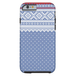 Mariusgenser Christmas Sweater Pattern Tough iPhone 6 Case