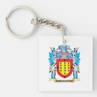 Marjanovic Coat of Arms - Family Crest Single-Sided Square Acrylic Key Ring
