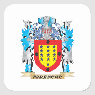Marjanovic Coat of Arms - Family Crest Square Sticker