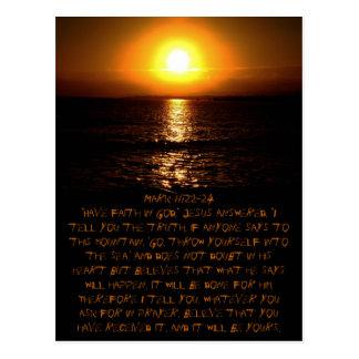 Mark 11:22-24 Postcard
