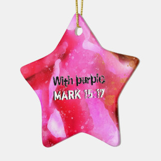 Mark 15-17 A Crown Of Thorns On The Head Ceramic Ornament