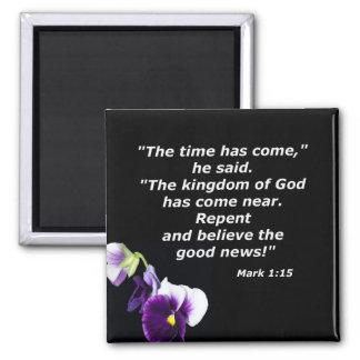 Mark 1:15 square magnet