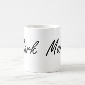 Mark Artistic Name Design Basic White Mug