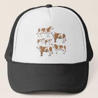 Mark cattle selection trucker hat