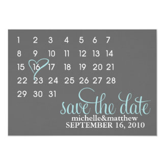 Mark The Calendar Wedding Save the Date Card