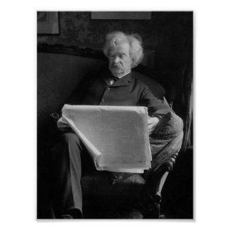 Mark Twain - American Author and Humorist Poster