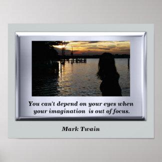 Mark Twain - art poster