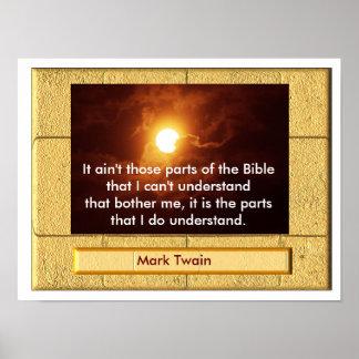Mark Twain Bible quote - art print