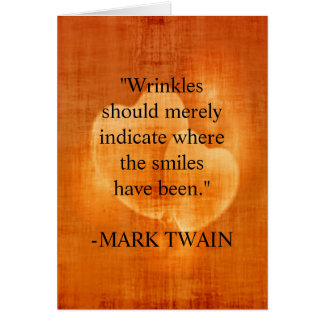 Mark Twain Birthday Quote With Hearts Card