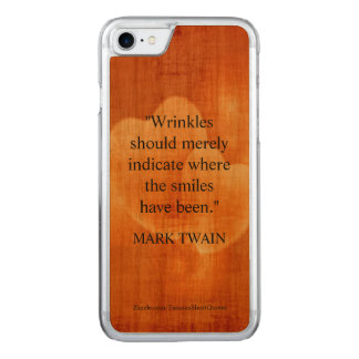 Mark Twain Birthday Quote With Hearts Carved iPhone 8/7 Case
