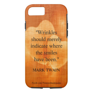 Mark Twain Birthday Quote With Hearts iPhone 8/7 Case