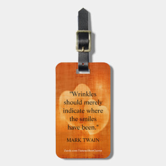 Mark Twain Birthday Quote With Hearts Luggage Tag