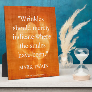 Mark Twain Birthday Quote With Hearts Plaque