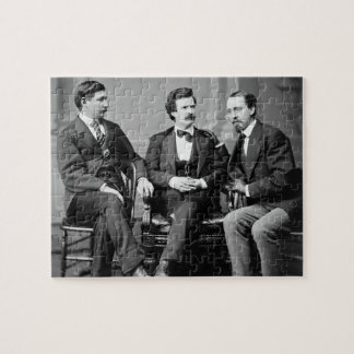 Mark Twain, George Alfred Townsend, and David Gray Jigsaw Puzzle