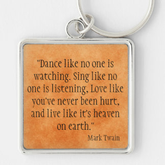 Mark Twain Key Ring