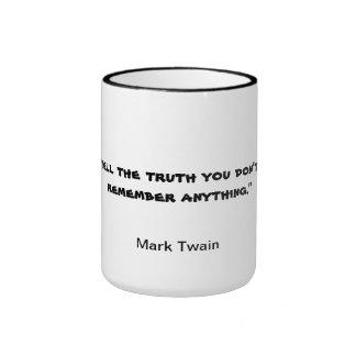 Mark Twain Mug Quote