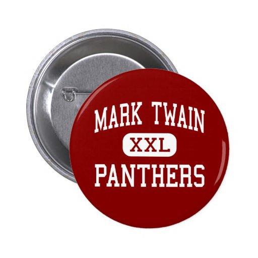 Mark Twain - Panthers - Junior - Modesto Pinback Button