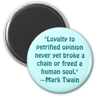 Mark Twain Petrified Opinion Quote Magnets