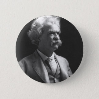 mark twain photo 6 cm round badge