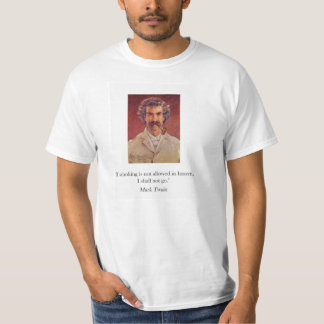 Mark Twain pipe smoking t-shirt