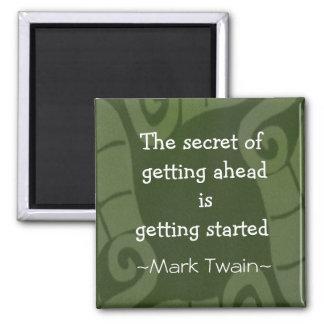 Mark Twain Quotation - Inspirational Gift Fridge Magnet