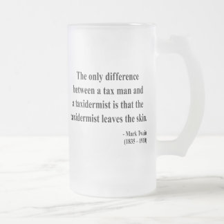 Mark Twain Quote 3a Frosted Glass Beer Mug