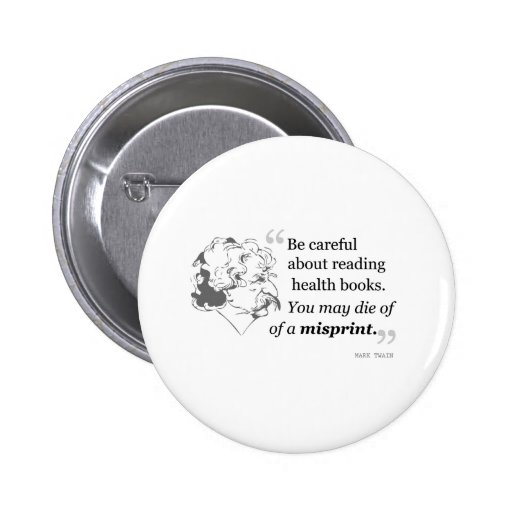 Mark Twain Quote 5 Buttons