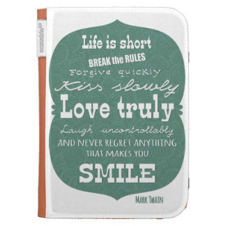 Mark Twain quote about life Kindle Cover