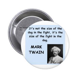 Mark Twain quote Pin